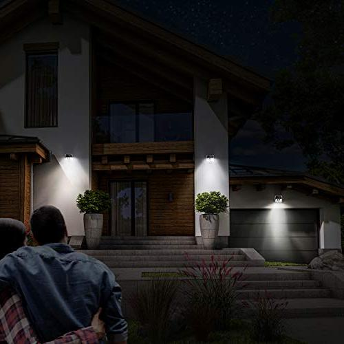LITOM LED Solar Easy to Motion Sensor Light with Wide Angle, Waterproof Solar Front Garden, Patio,