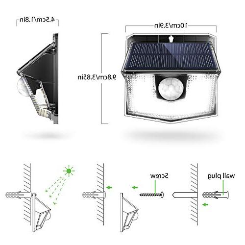 LITOM Solar Wireless Easy to Wide Angle, Waterproof Solar Security Light For Front Garden, Patio,