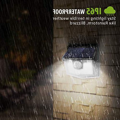 LITOM 30 LED Solar Lights Easy to Sensor Wide Angle, IP65 Solar Light For Front