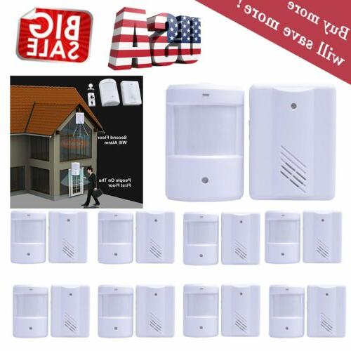 Lot Wireless Home Alarm PIR Motion Sensor System Infrared De