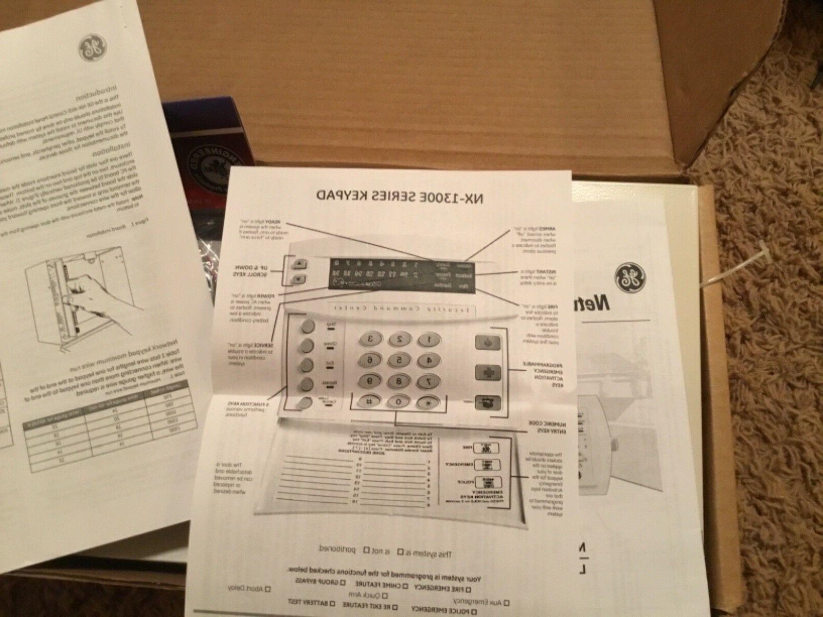 NEW GE Security NX-4-FP w/NX-1300E LED Alarm.com