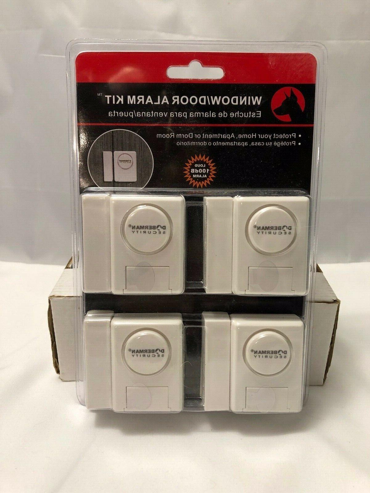 NIP Doberman Security Window/Door Alarm Kit For Home, Apt, D