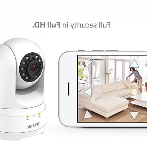D-Link Full Pan/Tilt/Zoom WiFi Indoor Camera/ Cloud Recording, Audio, Detection & Night Vision/ Echo Show/Echo Google Assistant