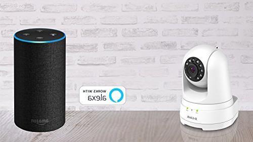 D-Link Full Pan/Tilt/Zoom Camera/ Cloud Recording, Audio, Detection Night Echo Show/Echo Google DCS-8525LH-US