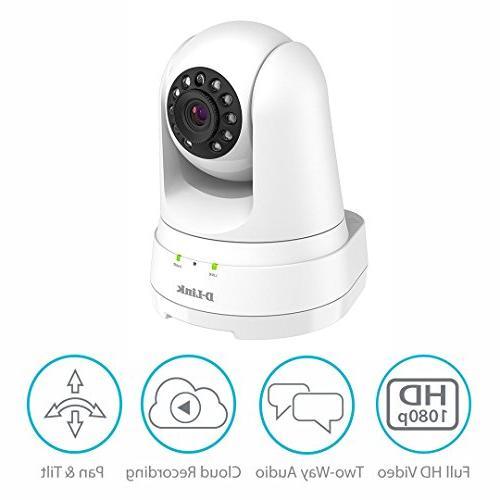 D-Link Full HD Pan/Tilt/Zoom WiFi Indoor Security Camera/ Recording, 2-way Audio, Detection Night Vision/ Amazon Echo Google Assistant
