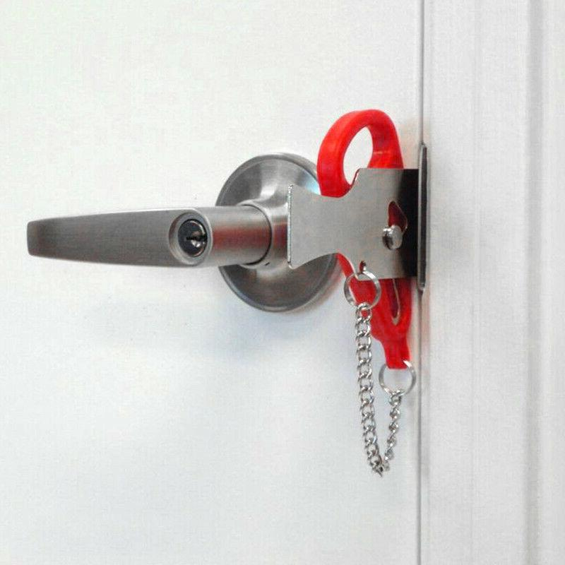 Portable Lock Hardware Tool Easy Security Privacy Travel Hotel