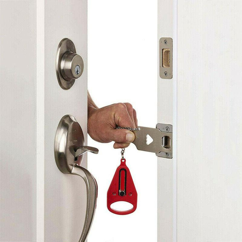Portable Door Hardware Safety Security for Travel Hotel