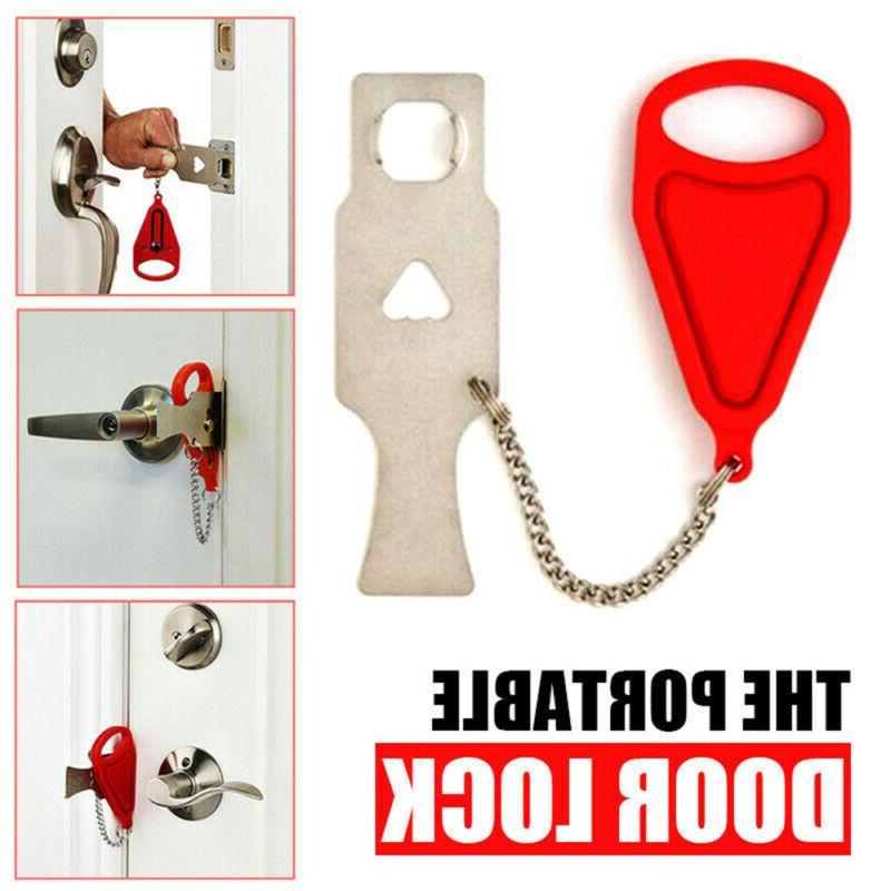 portable door lock hardware safety security