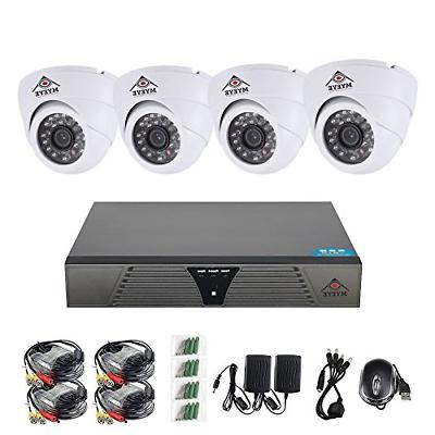 Security Camera System 4 Channel Kit. 720P AHD Home Video Su