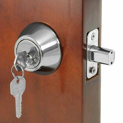 security door silver double cylinder