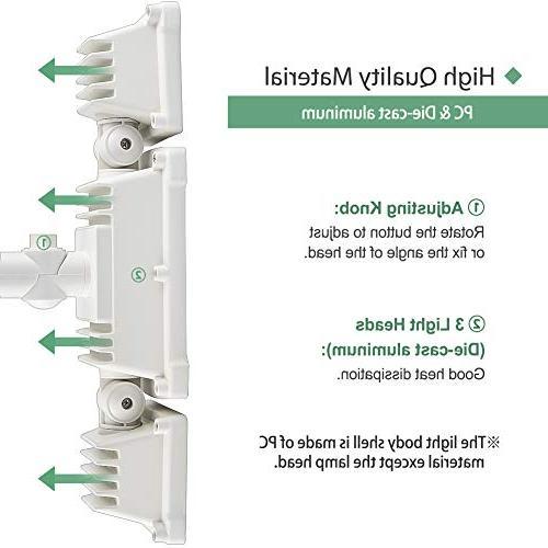 GLORIOUS-LITE 39W LED Light, Motion Sensor Light Outdoor, & 5500K, 3 Flood Yard, Pathway &