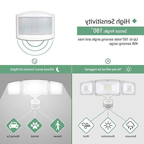 GLORIOUS-LITE 39W LED Security Light, Light IP65 Waterproof & ETL Certification, 3 Adjustable Head Flood Security Yard, Pathway