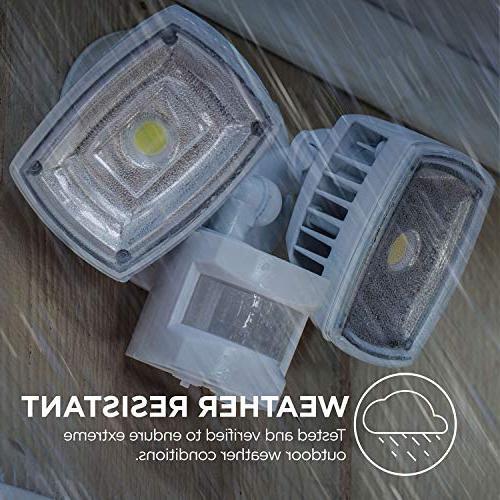 Home Zone ES00730U LED Sensor Lights Bright 5000K,