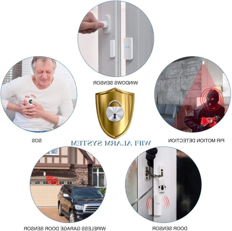 sistema de alarma casa sensor y puerta