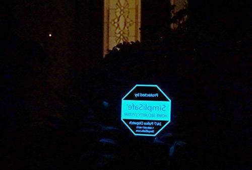 self illuminated yard sign