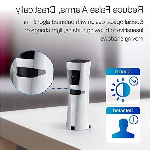 SENS8 Home System Siren, Smart / Wi-Fi Indoor No Alexa using IFTTT, Night Vision, Two-way Audio