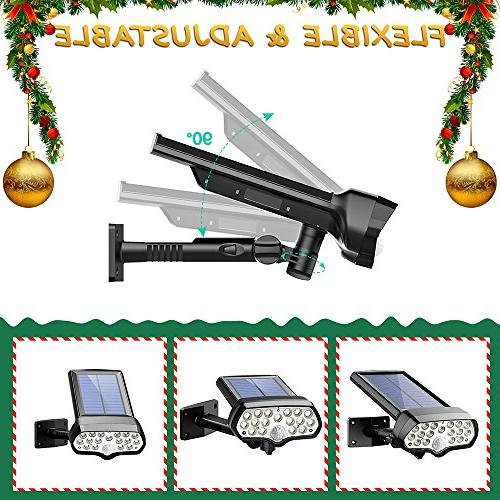 Litom 17 Security Solar Sensor with Muti-Angle Adjustable, Wireless Spotlight for Door, Garage, Balony, Home