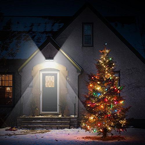 LITOM 54 LED Super 270°Wide Motion Lights, Waterproof Solar Door, Garage, Porch,