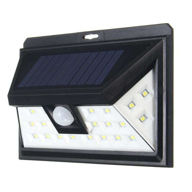 solar power outdoor 24 leds wireless waterproof
