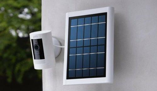 Ring Stick Up Battery & Solar Panel Indoor/Outdoor 1080p HD talk White