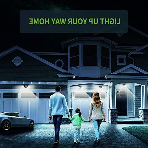 LITOM Solar Lights Outdoor, Wireless IP65 Sensor Lights Lighting Angle Install for Front Yard, and