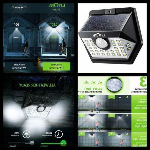 upgraded 30 solar lights