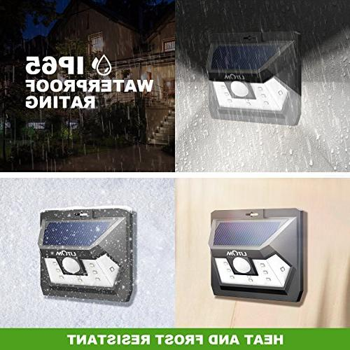 LITOM Solar Wireless LED Sensor with Wide Angle, Security Lights for Yard Shed Fence