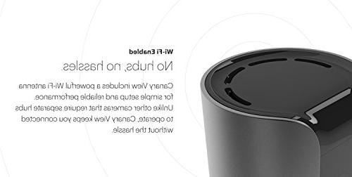 Canary View Indoor 1080p HD Security Camera Wide-angle Monitoring, Design