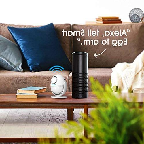 BIBENE WiFi Security DIY Alexa WP6 Alarm APP, PIR Panel,0-120dB, 3Modes Fee,