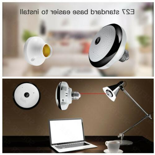 Wifi Camera Light Bulb 360 Home Security Vision