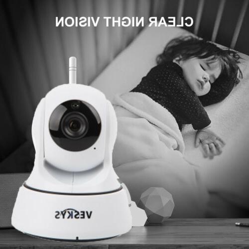 WiFi Wireless Home Camera Tilt Night Vision IP Webca