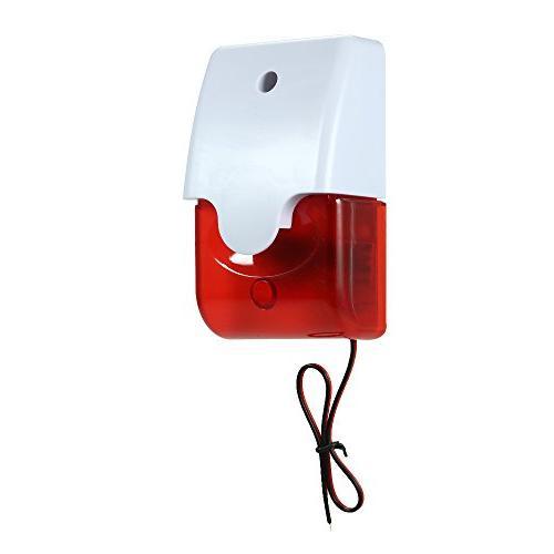 wired strobe siren sound alarm