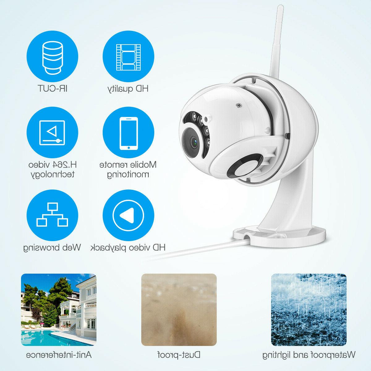 Wireless 1080P 5X ZOOM CCTV IP Camera Home Security IR