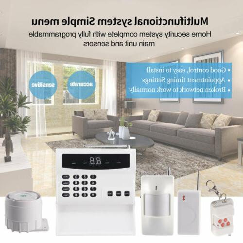Wireless Office Security Alarm System DIY Kit Motion Detectors