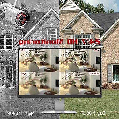 System HD Channel 2.0 Megapixel CCTV Kit Built Hard for Home Outdoor and Monitoring
