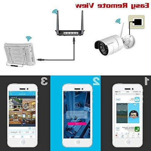 YESKAMO Security System LCD HD 4 2.0 Megapixel CCTV Built Hard Outdoor and Indoor Video Monitoring