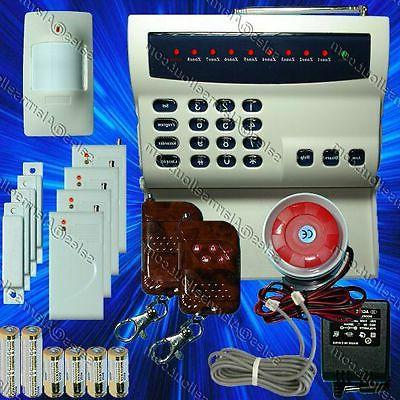 wireless home system led burglar