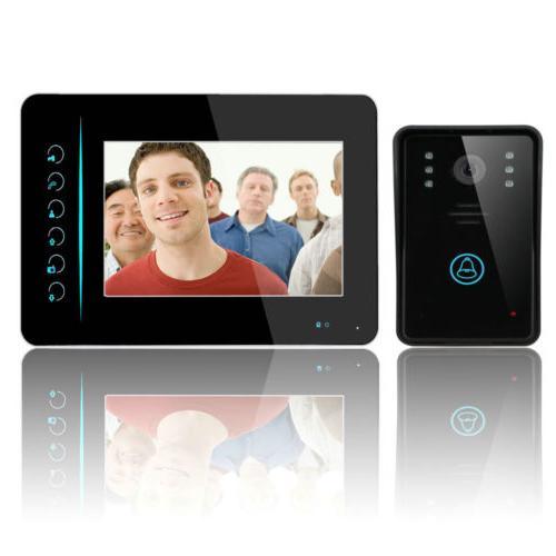 """7"""" TFT Screen Video Monitor Wireless Door Phone Doorbell IR-"""