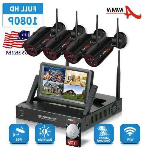 wireless security camera system 4ch hd wifi