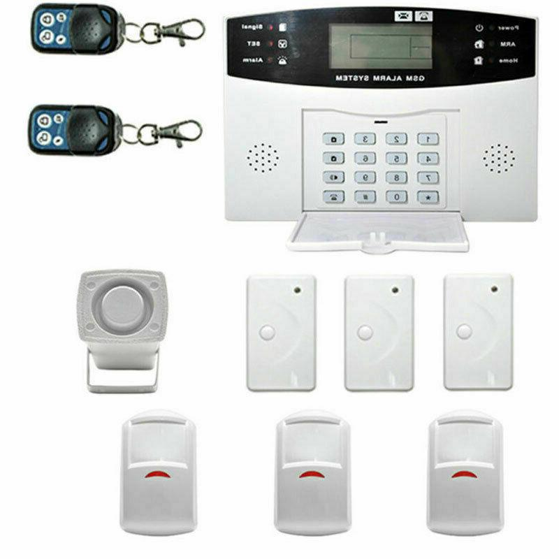 Wireless Smart GSM+LCD+2G Home Security Alarm System Motion NEW
