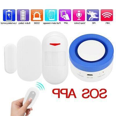 smart wifi home security siren anti theft