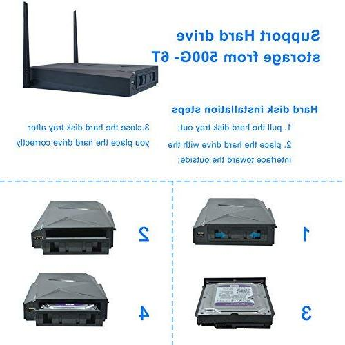 JOOAN Wireless HD960P Surveillance 4X1.3MP IP Camera with Hard Drive