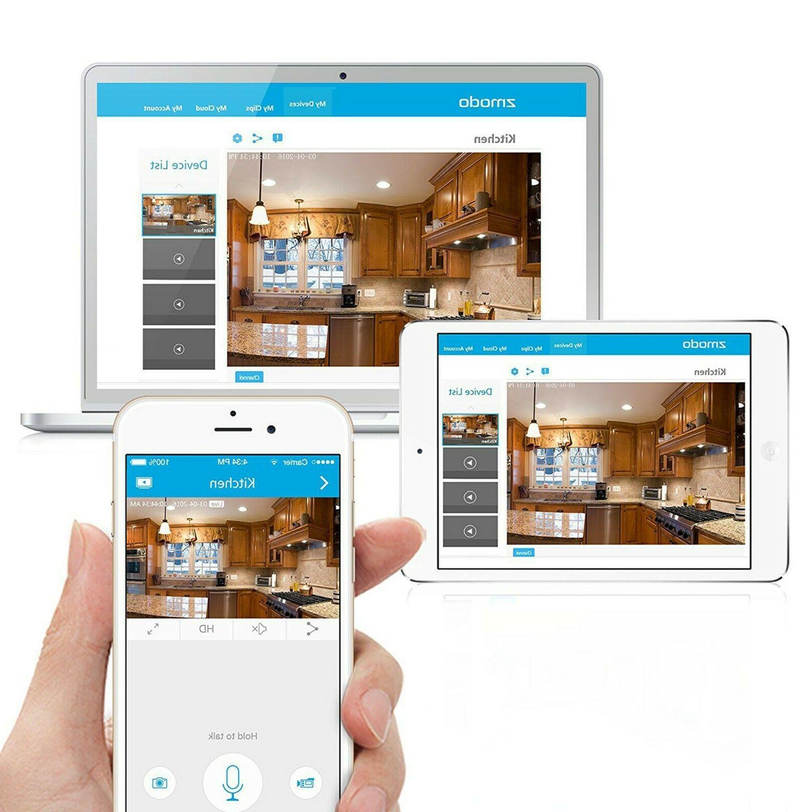 Zmodo Wireless Two-Way Audio HD IP Home Security Camera Night