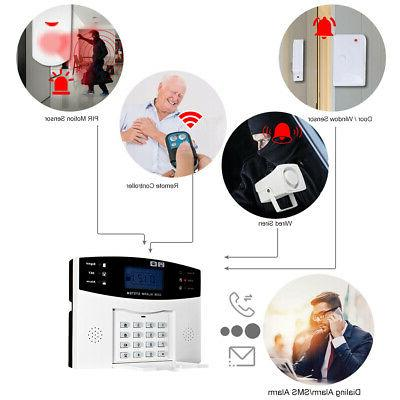 433MHz LCD GSM SMS Alarm Home Security T8C7