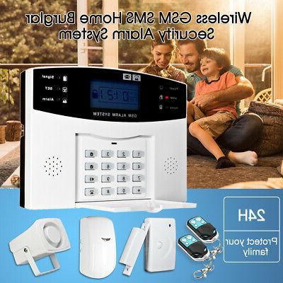 GSM Wireless Burglar Security Alarm System Home Door Window
