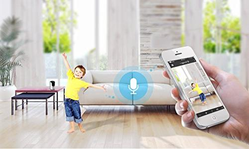 Zmodo WiFi Network 350° 85° Tilt Security Camera Night Two-Way Remote 3-Year