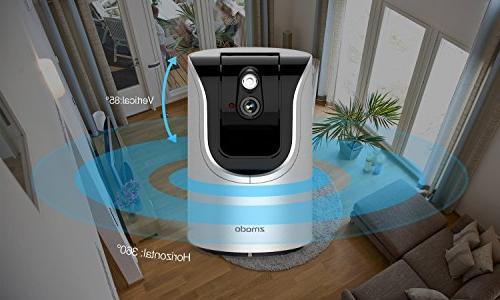 Zmodo 720p Wireless WiFi Network 85° Smart Security Camera Day Two-Way SmartLink Remote
