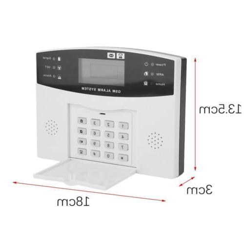 Wireless Wired LCD SMS Home House System Burglar EK