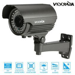 KKmoon Manual zoom Camera Outdoor CCTV 1200TVL Night Vision