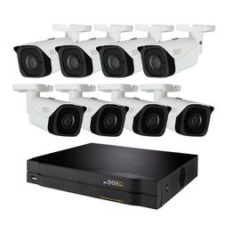 New Qsee QC888-8ET-2 4K NVR Home Security System with 8 Bull